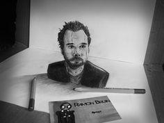 Drawings These Sketches Are Just Extraordinary - Dutch artist Ramon Bruin uses nothing but paper, pen, and cleverly positioned props, to create the illusion of depth. He calls the technique 'anamorphosis', but refuses to explain exactly how it's done. Amazing Drawings, Realistic Drawings, Cool Drawings, 3d Pencil Drawings, 3d Art Drawing, Drawing Ideas, 3d Sketch, Sketches, Mind Blowing Pictures