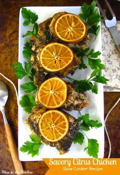savory citrus chicken  Savory Citrus Chicken   Slow Cooker Recipe