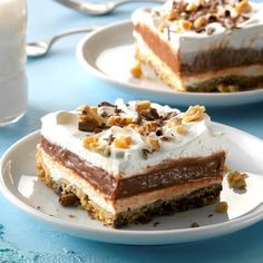 If you're looking for something sweet, dig into our easy-to-use dessert guide. We have tons of dessert recipes with pictures (and videos! Our Desserts newsletter brings treats to your inbox every week. Potluck Desserts, Pudding Desserts, Potluck Recipes, Köstliche Desserts, Frozen Desserts, Delicious Desserts, Cake Recipes, Dessert Recipes, Yummy Food
