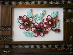 Картина, рисунок, панно Квиллинг: цветочки для мамой, подруге и незнакомой женщиньь Бумага День рождения. Фото 2