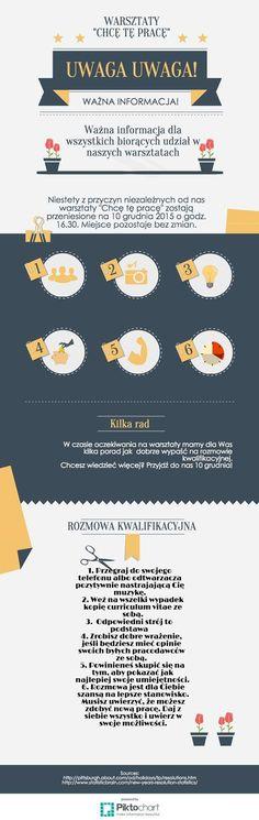 Rozmowa kwalifikacyjna - dobre rady #infografika #dobrypatent