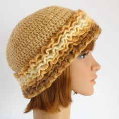 Vanilla Hat Hand Knit Winter Hat Woman Crochet ♥ by RUMENA on Etsy, $35.00