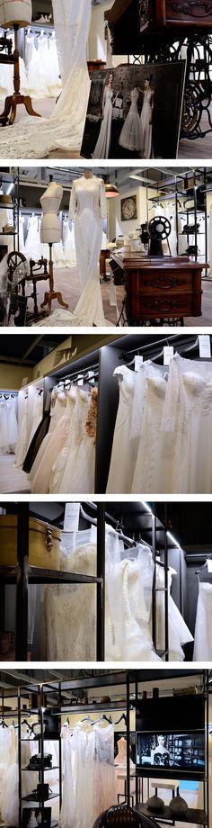 Stand fieristico di @grittispose , un progetto #effADV - @grittispose #boothdesign, effADV project #stand #booth #weddingdress #bridal #madeinitaly #italianstyle