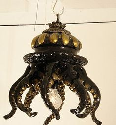 Steampunk Jellyfish Chandelier/ Lamp