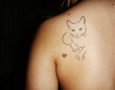 cat outline, via tattoologist