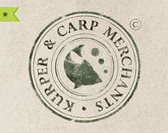 Textured round stamp logo