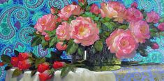 Victor Nizovtsev, Garden Painting, Painting Inspiration, Watercolor Paintings, Fairy Tales, Rose, Florals, Art, Flowers