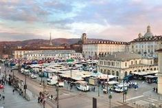 Porta Palazzo is the square of Turin (Piedmont Italy) the largest market in Europe
