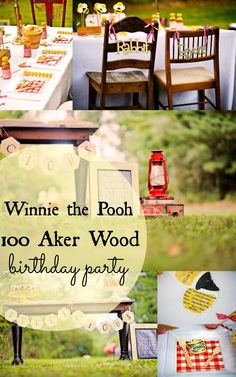 12 Photos From A Winnie the Pooh First Birthday in the 100 Aker Wood. Greyson Design 100 Aker wood party featured on #Babble #WinniethePooh #Disney