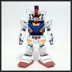 SD RX-78-2 Gundam Ver. Evolve Free Gundam Paper Model Download - http://www.papercraftsquare.com/sd-rx-78-2-gundam-ver-evolve-free-gundam-paper-model-download.html