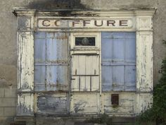 Beautiful colors, weathered together… susiehouser: Vintage French Shopfronts (by TrautsOnline)
