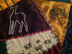 BeanTown Embroidery: Harry Potter Quilt - STILL not done...