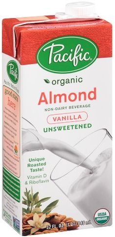 Pacific Natural Foods Organic Unsweetened Almond Beverage, Vanilla, 32 Ounce Boxes Pack of 12 Excellent source of Vitamin D and Riboflavin Gluten free Lactose free Soy free Organic Vanilla Chai Tea, Vanilla Plant, Organic Almond Milk, Unsweetened Almond Milk, Tea Recipes, Gourmet Recipes, Drink Recipes, Chai Tea Recipe, Gourmet Food Store