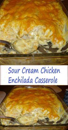 Sour Cream Enchiladas, White Chicken Enchiladas, Beef Enchiladas, Mexican Dishes, Mexican Food Recipes, Dinner Recipes, Tostadas, Tacos, Empanadas