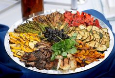 Grilled vegetable platter -- for parties, healthier than the usual stuff