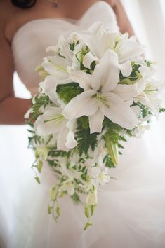 all white wedding flowers with casablanca lilies - Google Search
