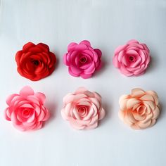 Paper Cutting, Different Colors, Paper Flowers, Colours, Rose, How To Make, Gifts, Pink, Presents