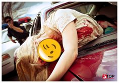 stop texting and driving happy face campaign