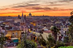 Rome: view from Villa Borghese park от Guido Agapito Rome City, Empire Romain, Paris Skyline, Photo Art, Beautiful Places, Villa, Photoshoot, Park, Architecture