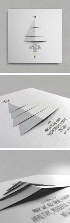 Christmas & New Year Greeting Cards by Vasilis Magoulas, via Behance / #xmas #2014 #newyear (Diy Paper Tree)