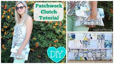 Simple Patchwork Clutch Tutorial, beginner friendly sewing video with step by step instructions and fun summer time fashion #diy #sewing #iheartstitching