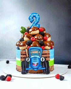 Baby Boy 1st Birthday Party, 1st Birthday Cakes, Baby Shower Cake Designs, Baby Shower Cakes, Choc Drip Cake, Farm Cake, Basic Cake, Brownie Cake, Holiday Cakes