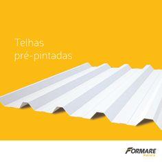 Telhas Pré-Pintadas com a Formare Metais! Atualmente trabalhamos com a cor Branco RAL9003 e estão disponíveis para todas as nossas telhas: trapezoidal natural, telha ondulada, semi-sanduíche e acústica ;) #FormareMetais #ObrasDeAço