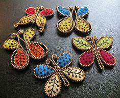 butterflies!! made of zippers and felt