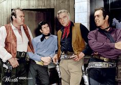 Bonanza adam wearing purple? I only knew he wore black shirts and red with black vests