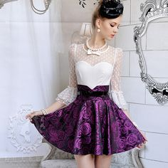 Such a gorgeous outfit Pretty Outfits, Cool Outfits, Big Skirts, Autumn Rose, One Piece Dress, Outerwear Women, Lace Skirt, High Waisted Skirt, Autumn Fashion