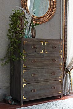 Anthropologie Portside five-drawer dresser