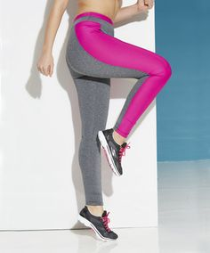 Leggings with beautiful color blocking move as you do!  Plus Size Fashion from Woman Within.  Stylish Activewear.