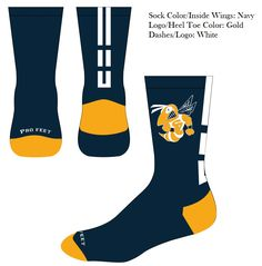 Profeet Genx Quick ship Custom Crew bumble bee basketball socks style are a perfect addition to any custom uniform. Color Dash, Logo Bee, Sports Jersey Design, Navy Heels, Basketball Socks, Custom Socks, Team Uniforms, Fashion Socks, American Made