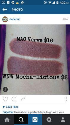 #lip #swatch #dupe #MAC #wetnwild #brown