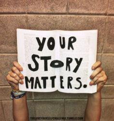 your story matters - Shabby Blogs: i'm not beautiful like you, i'm beautiful like me