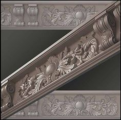 Moulding Cornice Model available on Turbo Squid, the world's leading provider of digital models for visualization, films, television, and games. 3d Building Models, Cement Design, 3ds Max Tutorials, Stage Set Design, Antique Wallpaper, Ornamental Mouldings, Floor Trim, Puja Room, Cornice