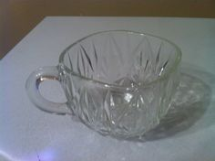 Vintage Anchor Hocking Small Punch Cup Clear Glass. $5.00, via Etsy.