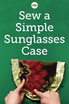 Stacy Grissom shows us a fun project to hold your glasses or sunglasses. Learn how to make a sunglasses case that is also a cute accessory. Watch as Stacy walks us through step-by-step and shows us how we can easily make this unique project for a gift to ourselves or to a friend!