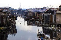Lagos, Nigeria. Feb. 26, 2015. The floating slum of Makoko is a low-income coastal community in Lagos. The vast majority of its residents are fishermen.  Kathleen Caulderwood