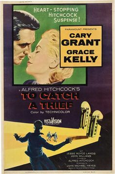 CAST: Cary Grant, Grace Kelly, Jessie Royce Landis, John Williams, Charles Vanel, Brigitte Auber; DIRECTED BY: Alfred Hitchcock; WRITTEN BY: John Michael Hayes; CINEMATOGRAPHY BY: Robert Burks. PRODUC
