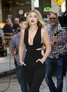Gigi Hadid - out and about commercial candids in New York, May 8, 2015
