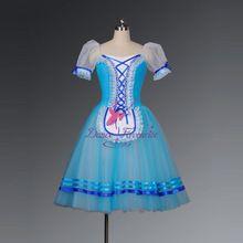 Di alta qualità tutu luce blu/rosa/viola/caffè balletto romantico vestito lungo per le ragazze professionale contadino prestazioni discoteca(China (Mainland))