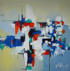 Een abstract schilderij kan als een doolhof zijn. Je kunt er in verdwalen of juist prima je weg vinden. In dit abstracte schilderij wordt op een pastel kleurige achtergrond het doolhof zichtbaar door middel van een verscheidenheid aan kleuren. Leker verdwalen.