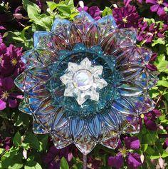 Garden Art Yard Decor Suncatcher UpCycled RePurposed Glass KIMI