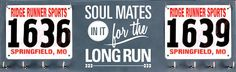 Running Medal Holder and Race Bib Hanger -  Soul Mates in it for the Long Run