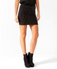 Turn heads in this studded skirt by showing off your gorgeous gams!