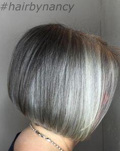 Gray Bob With Platinum Highlights                                                                                                                                                                                 More