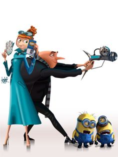 Gru and Lucy with the minions from Despicable Me 2 Image Minions, Minions Images, Cute Minions, Agnes Despicable Me, Minions Despicable Me, My Minion, Gru And Lucy, Erza Et Jellal, Minions Friends