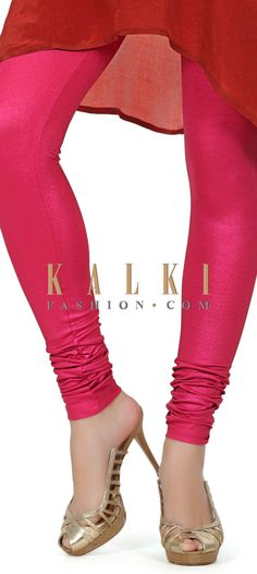 Buy this Featuring shimmer pink legging only on Kalki