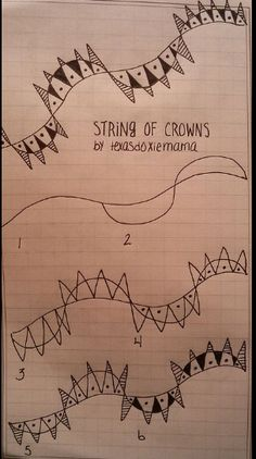 string of crowns by Linda Rea